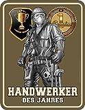 Original RAHMENLOS® Blechschild: Handwerker des Jahres