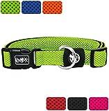 DDOXX Hundehalsband Air Mesh | für große, mittelgroße, mittlere & kleine Hunde | Halsband Hund | Hundehalsbänder | Katzen Halsbänder | Katzenhalsband | Zubehör | Grün, S - 2,0 x 27-37 cm