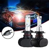 Ralbay H7 LED Lampadine del Faro Kit di Conversione 50W 8000LM 6500K Luce Bianca Luminosa Confezione da 2