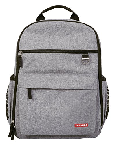 Skip Hop 201301 Duo Signature Backpack Heather Grey - Rucksack, grau / meliert