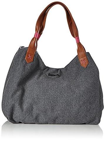 Bench Damen Jersey Reversible Graphic Bag Handtasche, Black Beauty, 40 x 40 x 44 cm (Handtasche Bench)