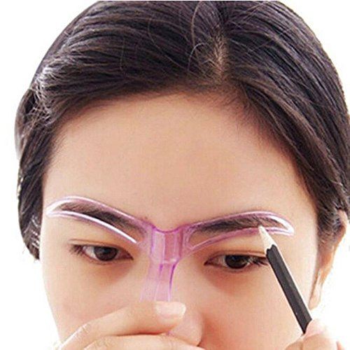 Augenbrauen Schablone Vorlage; mosunx Professional Schönheit Werkzeug Make-up Pflege Zeichnen schwarz, Augenbrauen Vorlage (Farbe randomization)