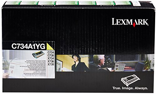 Preisvergleich Produktbild Lexmark C734A1YG C734, X734 Tonerkartusche 6.000 Seiten Rückgabe, gelb