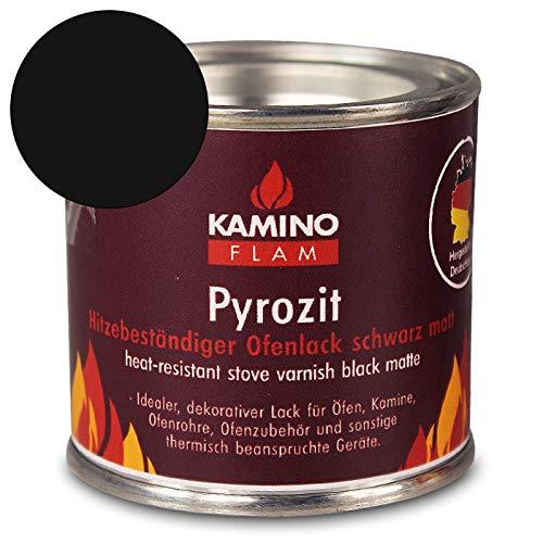 Ofenlack 125G - bis 450°C - Ofenfarbe Thermolack Lack Farbe - mit Farbauswahl (schwarz matt 125g)