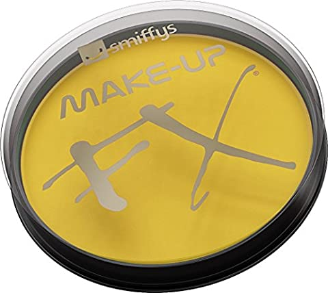 Smiffy's Make-Up FX Aqua Face and Body Paint Water Based, 16 ml - Yellow