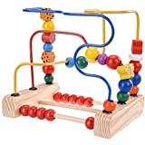 Gobus Beads Maze Toy Wooden Roller Coaster Beads Maze Math and Count Educational Learning Toys for Children Boys Girls