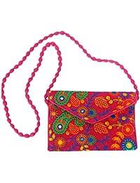 Woomaniya's Jaipuri Handmade Bags For Women Mirror Work Bag Shopping Bag Money Bag Purse Carry Bag For Girls Tote...