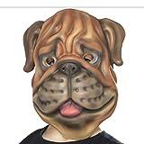 Maske Hund - braun - Tiermaske Bulldogge Faschingsmaske Köter Boxer-Hund Karnevalsmaske Kindermaske Tiere Hundemaske für Kinder