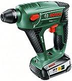Bosch DIY Akku-Bohrhammer Uneo Maxx, Akku, Ladegerät, 2 x Betonbohrer, 2 x Universalbohrer (18 V, 2,5 Ah, Bohr-Ø 10 mm Beton, 8 mm Stahl)