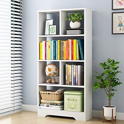 Yzibei Libreria Libreria Quadrata in Legno Libreria Organiser 6-Cubo in Acero Nordico, Bianco Caldo Scaffale da Terra (Colore : Warm White, Dimensione : 50 * 20 * 120cm)