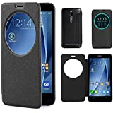 Pour Asus Zenfone 2 Coque , Leathlux Parfait Ultra-thin View Window Motif Flip PU Bumper Mince ...
