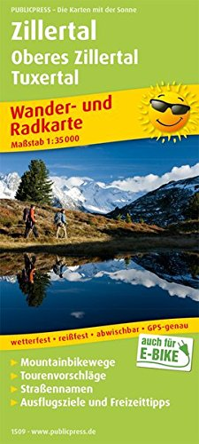 Zillertal - Oberes Zillertal, Tuxertal: Wander- und Radkarte mit Ausflugszielen & Freizeittipps, wetterfest, reißfest, abwischbar, GPS-genau. 1:35000 (Wander- und Radkarte / WuRK)