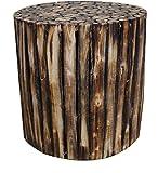 #10: Mywoodkart Wooden Log Stool Round