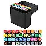 40 Farbige Graffiti Stift Fettige Mark Farben Marker Set,Twin Tip Textmarker Graffiti Pens für Sketch Marker Stifte Set Mit (schwarze)