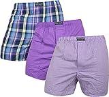 normani 3 x Boxershorts aus Reiner Baumwolle Original Exclusive Farbe Lila Größe S