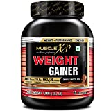 MuscleXP Weight Gainer - With 25 Vitamins & Minerals, Digestive Enzymes, Double Chocolate