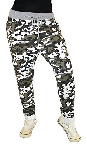 Boyfriend Army Camouflage Hose Jogger Jogginhose Freizeithose Relax Baumwolle Army ST