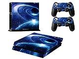 Stillshine Star Night Sky Skin autocollant pour PS4 Sony et 2 manettes de Console (blue comet)