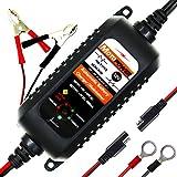 MOTOPOWER MP00205A 12V 800mA cargador de batería automático / Mantenedor para automóviles, motocicletas, ATVs, RVs, Powersports, barco y más. Inteligente, compacto y respetuoso del medio ambiente
