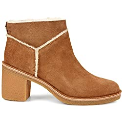 ugg kasen mouse suede heeled ankle boot - 51EJ7dGo9lL - UGG Kasen Mouse Suede Heeled Ankle Boot