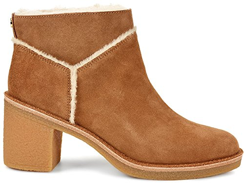 Ugg Women's Kasen Women's Leather Heeled Ankle Boot In Chestnut Suede