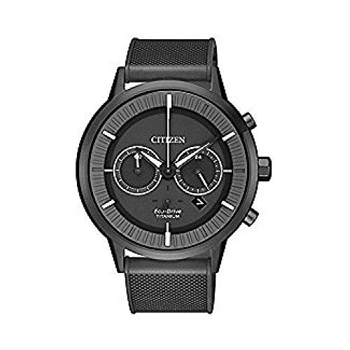 Orologio citizen crono eco drive modern design super titanium dlc ca4405-17h