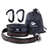 Anyoo Free-verstellbare Metallschnalle Hängematte Straps No Loops Fully Adjusted für Camping Wandern Reisen Geeignet für Jede Hängematte