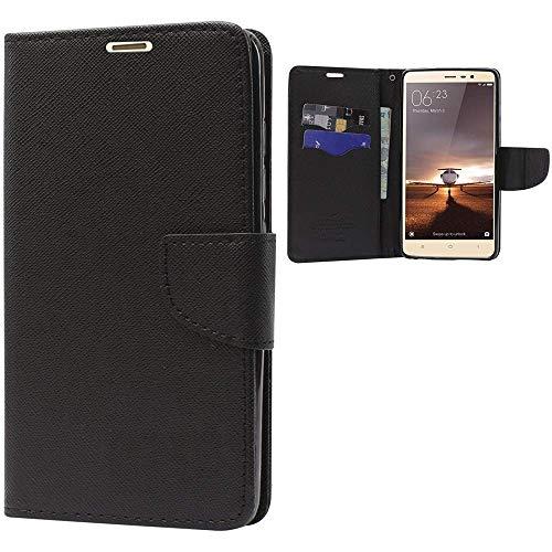 Dream2Cool Impact Resistant 2 Card Slot Cash Bills Slot Anti-Slip Design Drop Protection Flip Cover for Nokia Lumia 1020 (Dip Black)
