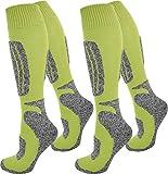normani 2 Paar Thermo Ski-Socke, atmungsaktiv und schützend Farbe N Gelb Größe 43/46