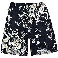 Pantalones Cortos de Playa, Pantalones Cortos de Surf Hawaianos Ocasionales, Pantalones Cortos de Verano para Hombres, Good dress, X, 5XL (75-100kg)
