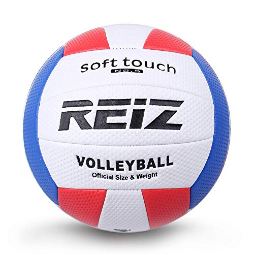 KNOSSOS Soft Touch Pu Leather 5# Volleyball Ball Training Competition Volleyball Ball White & Red & Blue