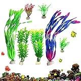 Berrose 7 Arten Wassergras Kombination Sieben Kombinationen von Pflanzen Aquarienfische Dekorative Wate Aquarium Pflanze Künstliche Fish Tank Wasser Kunststoff Dekoration Ornament