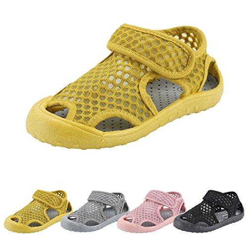 Qimaoo Kinder Sommer Sandalen Outdoor Indoor Schuhe Geschlossene Atmungsaktiv Strand Wanderschuhe für Baby, CN 17 EU 27
