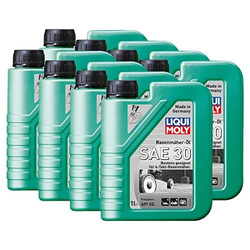 Preisvergleich Produktbild 8x LIQUI MOLY 1264 Rasenmäher-Öl SAE 30 Motoröl API SG 1L