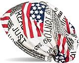 styleBREAKER Gorro tipo beanie, look estampado completo Periódico USA y UK, beanie largo encorvado, Unisex 04024078, color:Blanco