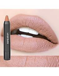 Fashion Rouge À Lèvres Mat Lipstick Crayon Étanche Longue durée Facile à Porter Cosmétique Nude Maquillage Lèvres #5