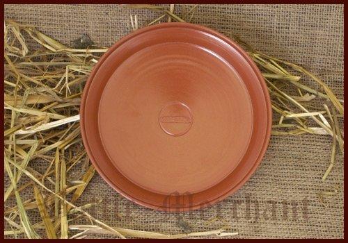 Römischer roter Teller aus Ton, Terra Sigillata Tonteller Obstschale LARP Wikinger Mittelalter