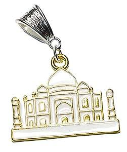 Charm Buddy Taj Mahal (Inde Plaqué Or Pendentif Inde-charme convient Pandora Style Bracelets-Bijoux Femme-Fille