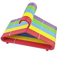 Children Kids Multi Coloured Plastic Clothes Coat Hangers Baby Child 50/80/100