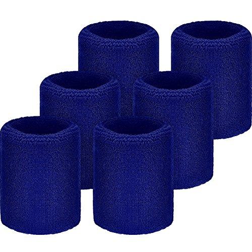 port Wristbands Absorbierende Schweißbänder für Fußball Basketball, Leichtathletik (Blau) ()