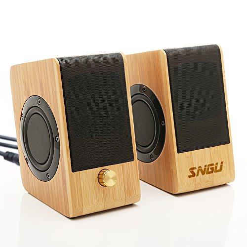 Sengu SG-S132 Hi-fi Bamboo Speaker With USB Powered Powered Woofer