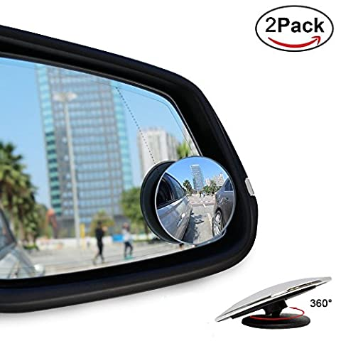 Blind Spot Mirrors, Ankier Round Shape Wide Angle Car Wing Mirror Blind Spot Stick On Side Mirror ( 2 Pcs