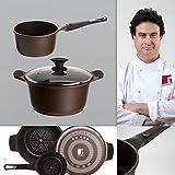 Bergner Sacher: Juego de útiles de cocina: Cacerola 24 y Cazo 16 cms.