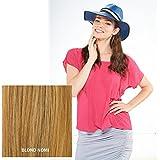 "Milano Collection Hat Wig 100% Premium Human Hair 17"" Long Wavy Style Blonde #NOMI"