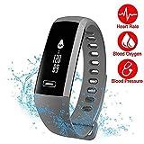 TEZER R5 Smartwatch Activity Fitness Tracker,Fitness Armbänder Mit Blutdruck,Herzfrequenz,Schlaf-Monitor,Kamera-Fernbedienung Schießen,Schrittzähler,IP67 Wasserdicht Bluetooth für Andriod/IOS