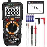 Tacklife DM01M Multímetro Digital profesional 6000 counts, 1000V TRUE RMS Rango Automático Voltímetro con NCV