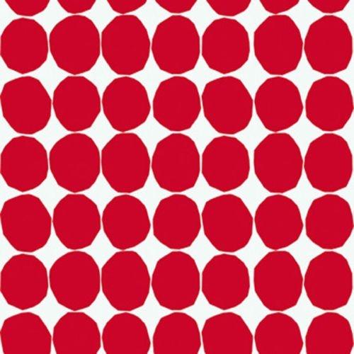 13062-marimekko-geometrico-a-pois-rosso-e-bianco-carta-da-parati-galerie