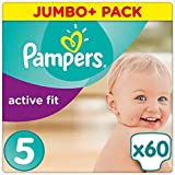 Pampers - Active Fit - Couches Taille 5 (11-23 kg) - Jumbo+ Pack (x60 couches)