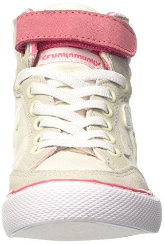 DrunknMunky Boston Classic, Chaussures de Tennis fille Bianco (Ivory/Rose)
