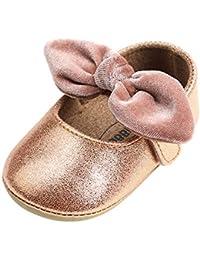 Lacofia Zapatos Antideslizantes Primeros Pasos para bebé niñas con Suela Bailarinas…